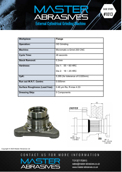 External Cylindrical Grinding Machine - Flange - Case Study 1013