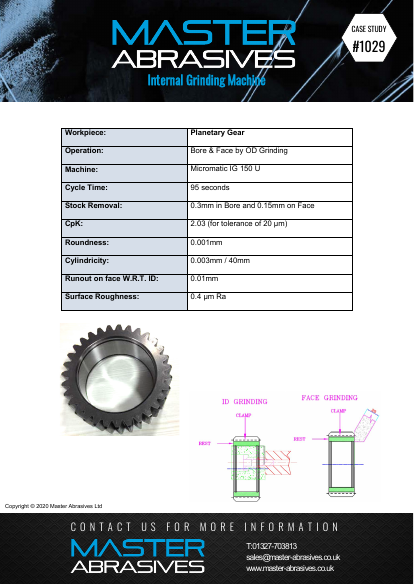 Internal Grinding Machine - Planetary Gear - Case Study 1029