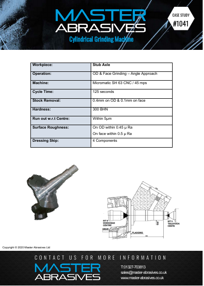 Cylindrical Grinding Machine - Stub Axle - Case Study 1041